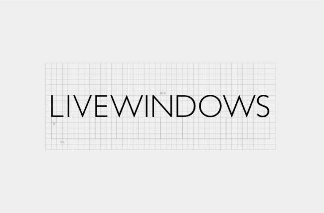 Livewindows institutional visual identity